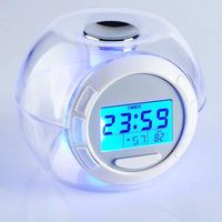 7 Color changing lcd Talking digital Alarm Clock for popular promotional gift