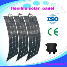 sunpower solar cells high efficiency flexible solar panel 100w, High Quality Semi Flexible Solar Panel