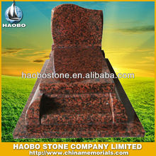 India Red Granite Small Tombstone