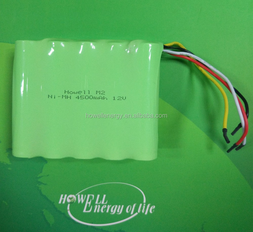 IEC62133 UL approved C size 12V 4500mAh Nickel metal hydride battery