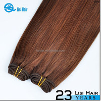Wholesale Price Top Quality No Shedding No Tangle No Dry 100% Human Hair honey brown hair
