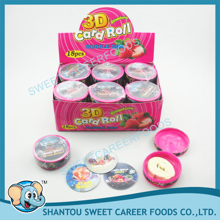 angry bird 3d card roll bubble gum