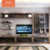Wall mounted simple design modern tv stand cabinet with shelf cabinet