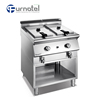 X Series 2 Tank 2 Basket Gas Chips Deep Fryer Commercial With Open Cabinet