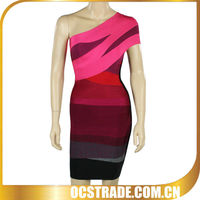 2013 hotsell one shoulder red sexy wedding night dress