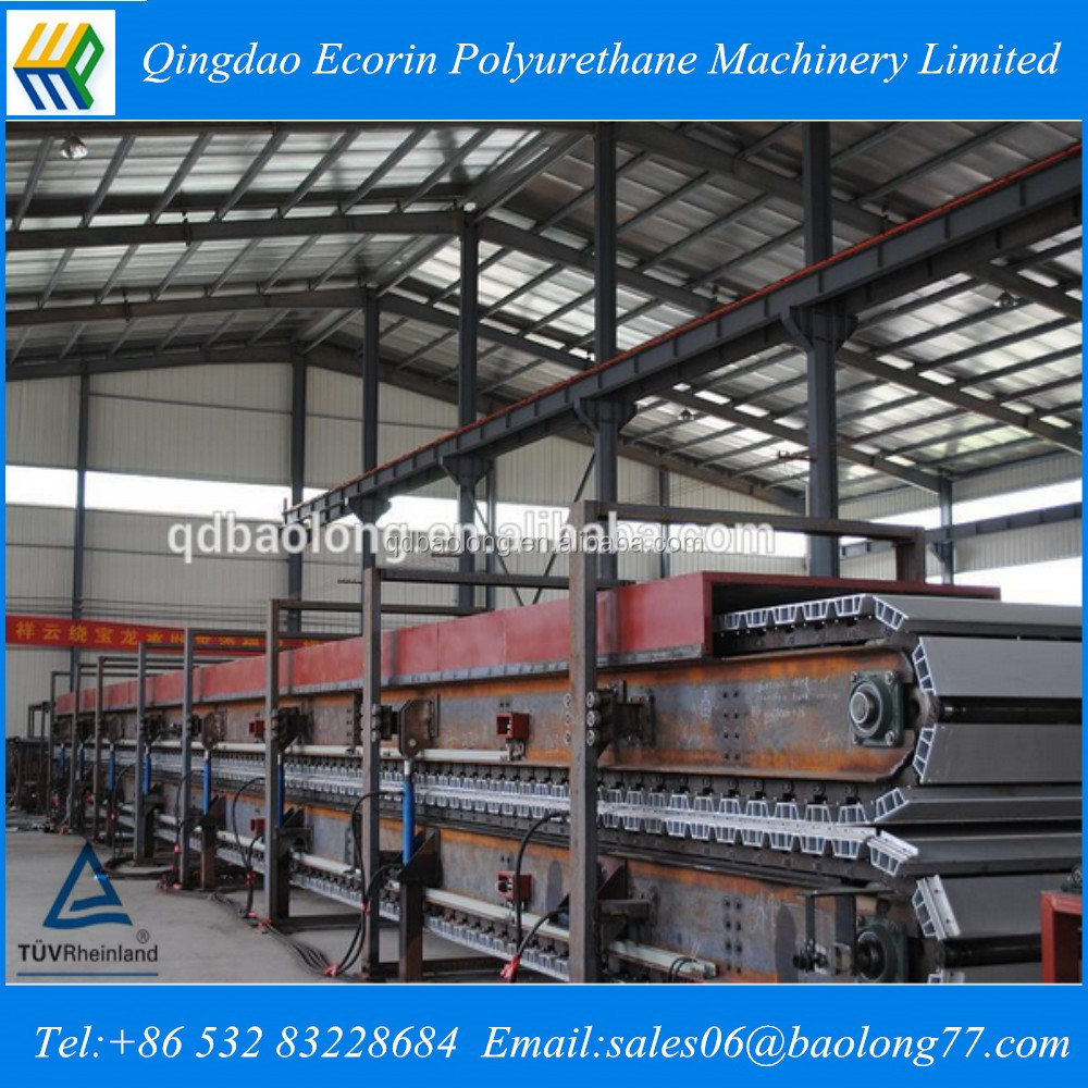 Sandwich panel production machine/insulation panel manufacture equipment/ pu foam continuous sandwich panel making line