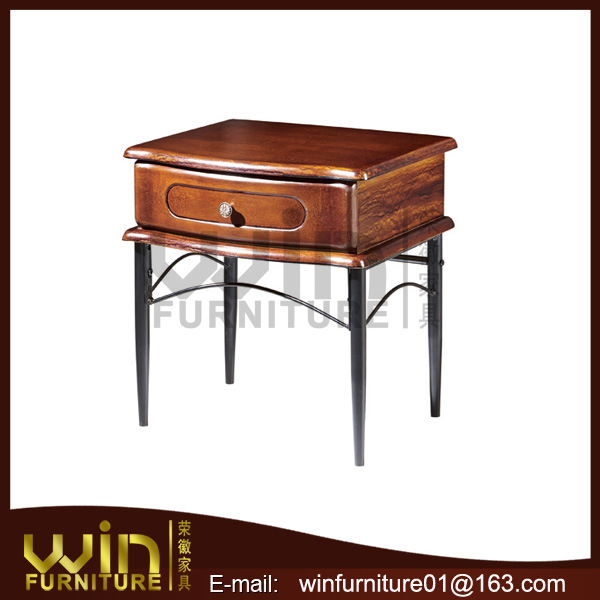 small pretty oak color wooden bedside table of cheap price
