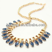 New design wholesale gold chain crystal bib pendant necklace,Egypt style necklace jewelry,Baroque style necklace jewelry