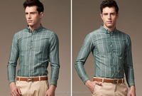Top quality cotton custom casual checked men shirts wholesale