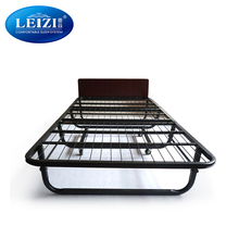 convenient portable foldable mental bed frame cheap hotel folding bed