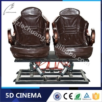 2015 Hot Sale Hydraulic/Electric Children Game Theme Parks 5D Cinema 5D Theater 5D Movie 5D Chair 5D Seat