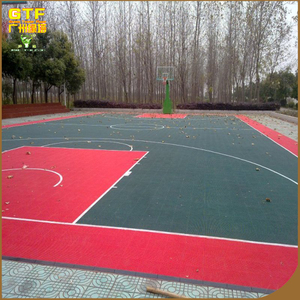 Durable PP material basketball court flooring/ sports flooring for badminton tennis and volleyball court