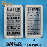 wholesale wooden wall decoration with printed mirror