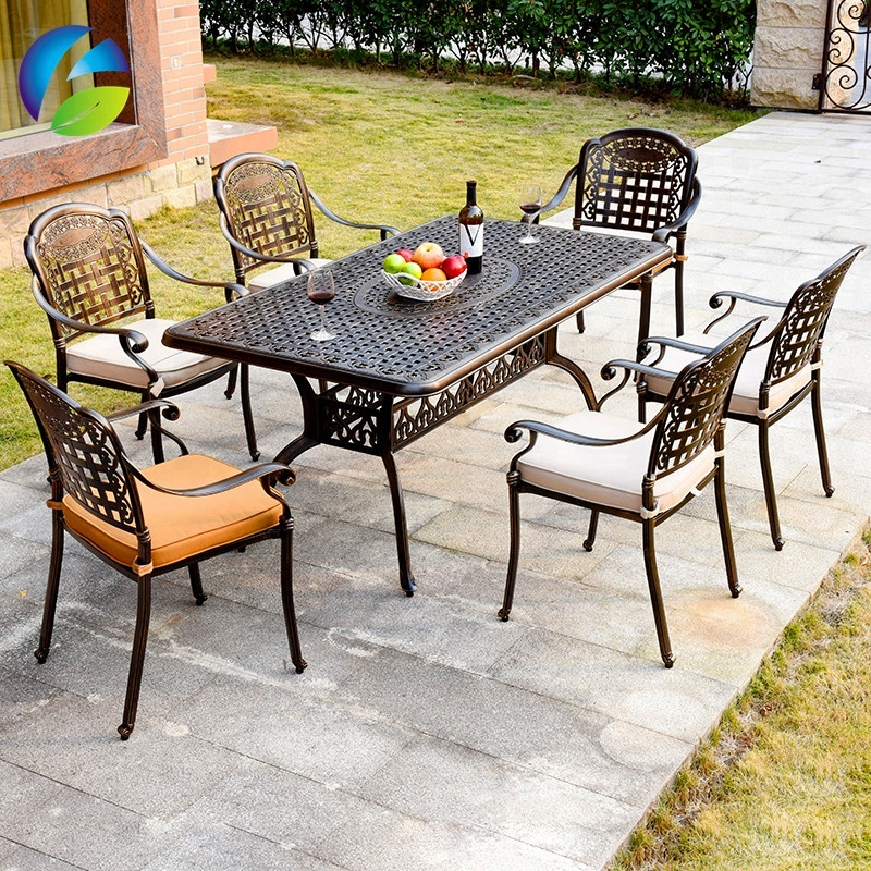 Hot Cake Waterproof Rust Proof Cast Aluminum Outdoor Chairs And