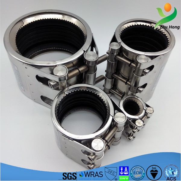 GR-L SS pipe leak repair clamp/products catalogue and price list of pipe coupling/plumbing pipeline connector