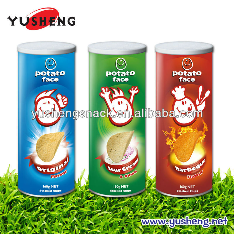 Pringles style potato chips