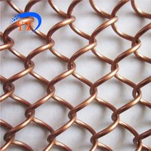 chain link decorative hand-woven wall metal mesh drapery for shower room partition