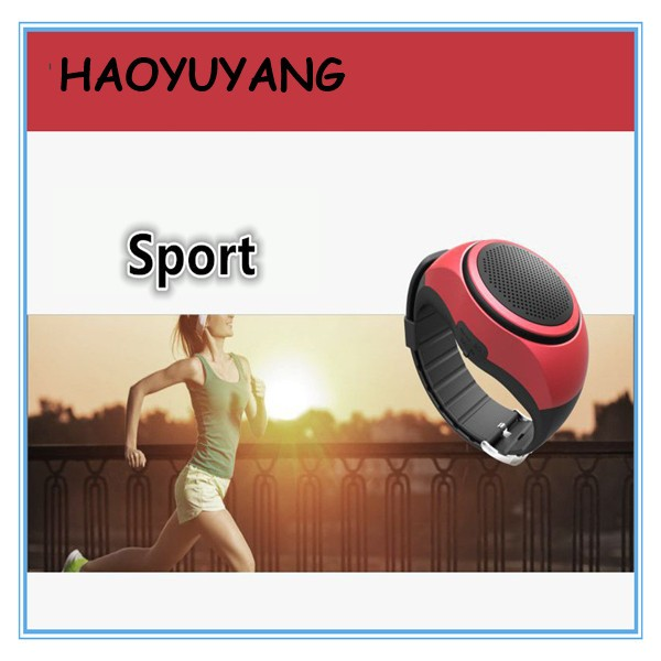 2017 New Wear Watch Bluetooth Bracelet Speakers Vibrating Remote Bluetooth V3.0 Sport Watch Speaker