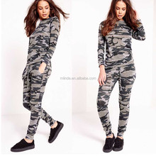 Camo Tracksuit Picture Women's Fancy Camo Tunic Top & Army Commando Military Print Camouflage Jeggings Leggings