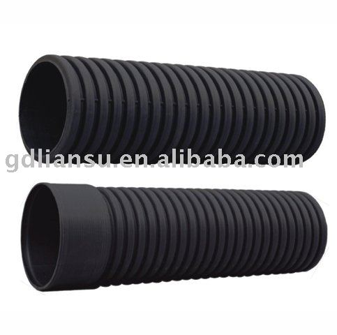 HDPE double wall pipe large diameter hdpe corrugated drainage pipe