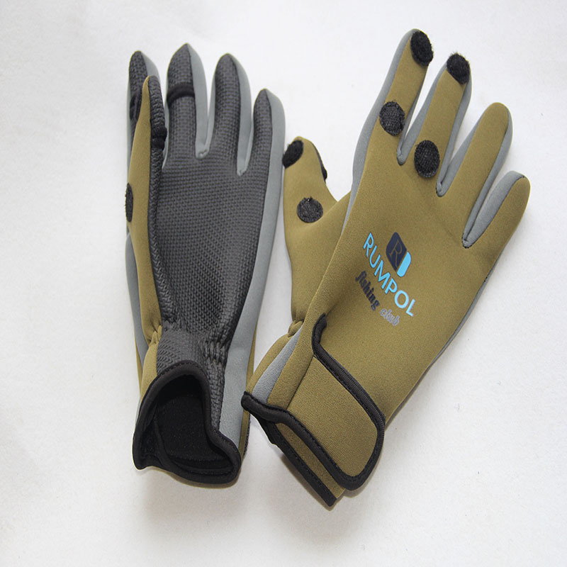 Factory Supply Neoprene Waterproof Fishing <strong>Gloves</strong> For Hand Protect