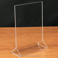 Vertical acrylic sign holder 5x7,tabletop clear acrylic display card/menu/sign holder