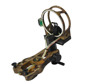 100 percent aluminum micro adjustable 5 pins archery camo bow sight for compond bow hunting