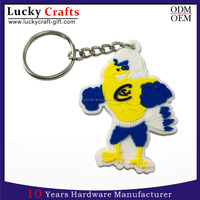 custom high quality personalized rubber pvc keychainwith key ring
