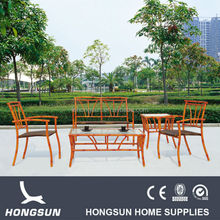 All weather Bamboo look outdoor furniture dining set