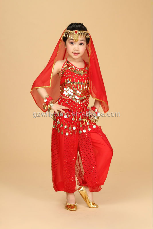 Lovely Pretty Children Belly Dance Kids Costumes High Quality Hot New Model1set=6pcs