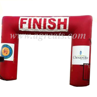 Factory price reusable vinyl inflatable finish line arch S5030