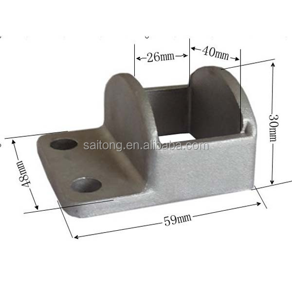 1or 2 lugs Cast Aluminium square tube fence posts brackets / conctete post brackets