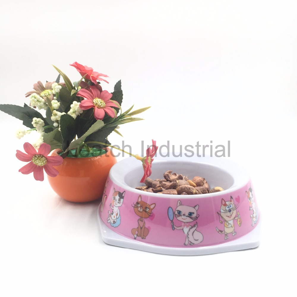 Top Grade Cute Purple Dog Pattern Pet Bowl