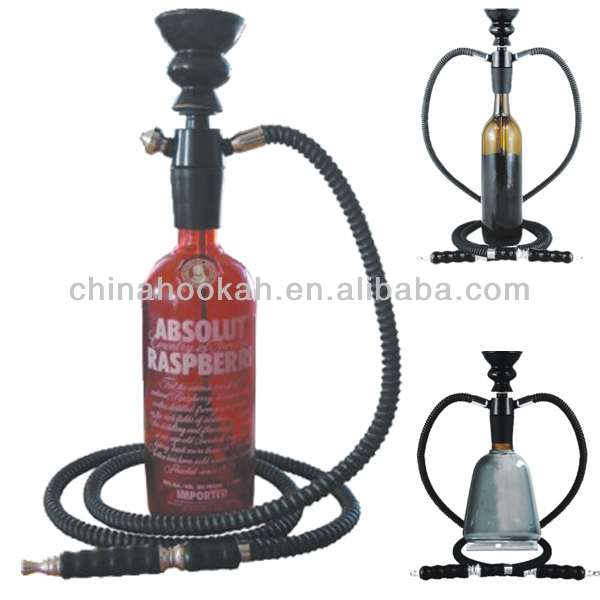 New design portable hookah /wine bottle hookah / nargile /hubbly bubbly with high quality
