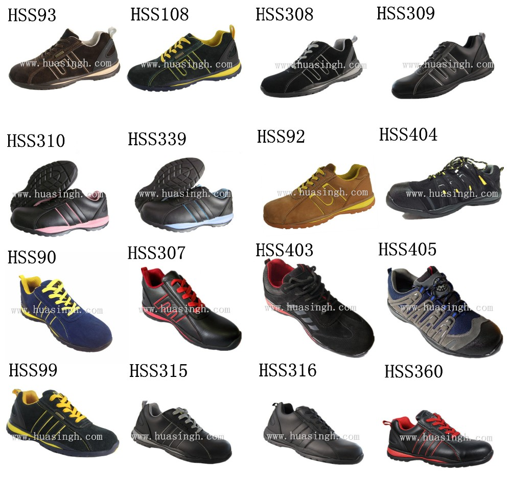 slip resistant walking safety trainers sport style safety shoes for Europe market