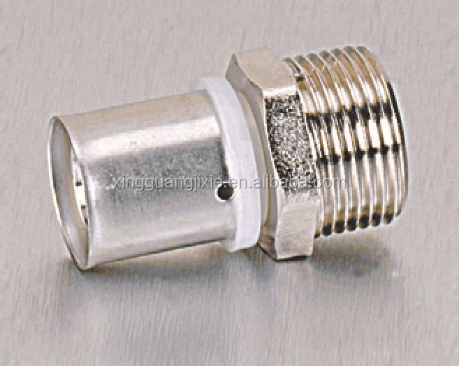 Nickel plated brass press pipe fittings
