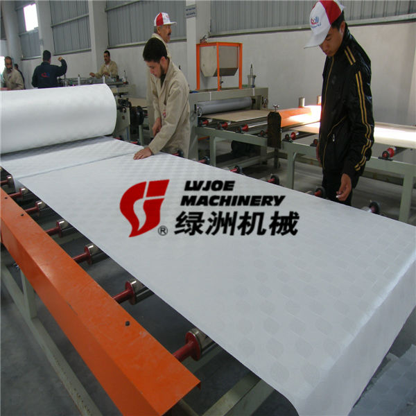New Technology construction building material Gypsum Ceiling tiles Laminating Machine