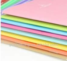 pretty colorful softcover PU leather notebook printing
