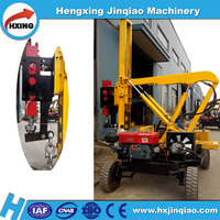 Road construction hydraulic press bore pile pulling pile machine