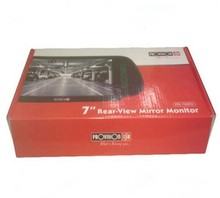Glossy Lamination Corrugated Rear View Mirror Monitor Box
