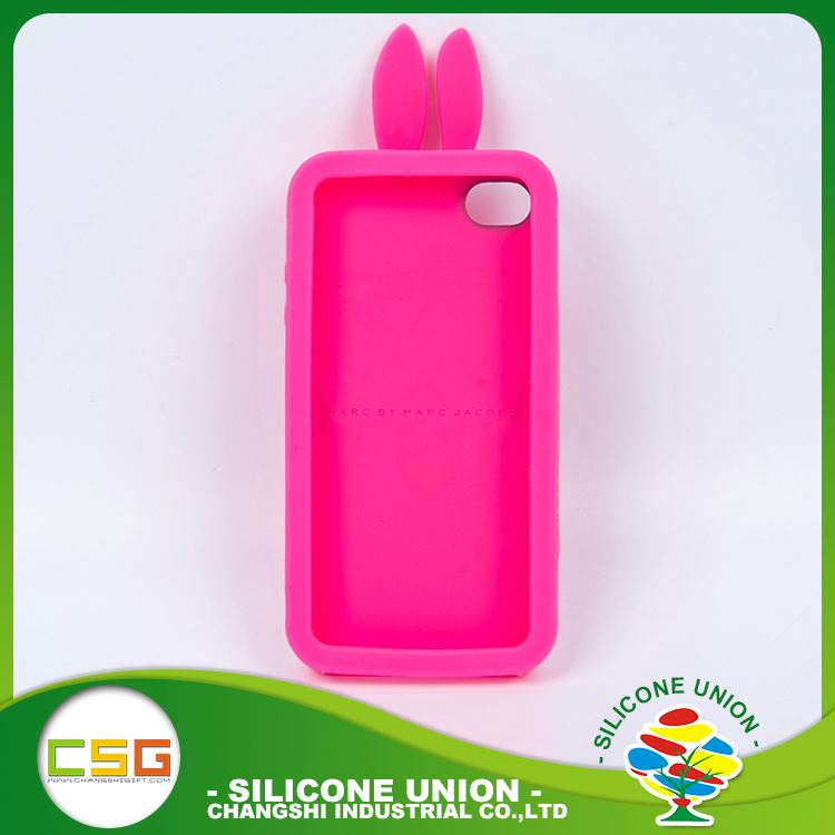 Standard level 3D logo various colors silicone cell phone case cover