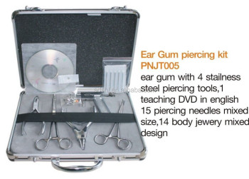 Piercing tools, professional body piercing tools set with jewelry