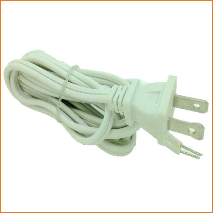 White Color Extension New UL Listed Cord AC Power Cable