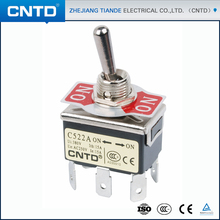 CNTD Sale 6 Foot 2 Gear Self-Locking On On Power Spring Return Toggle Switch 15A 250V