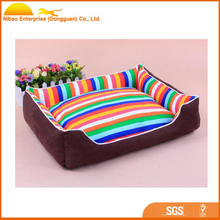 Colorful washable comfortable pet bed for dog