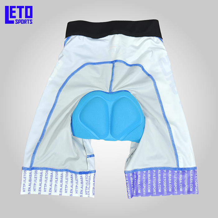 Custom Men's Sublimation Comfortable Cycling Shorts with Padded