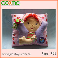 JM6749 Stuffed Plush Pillow with Strawberry Shortcake Girl