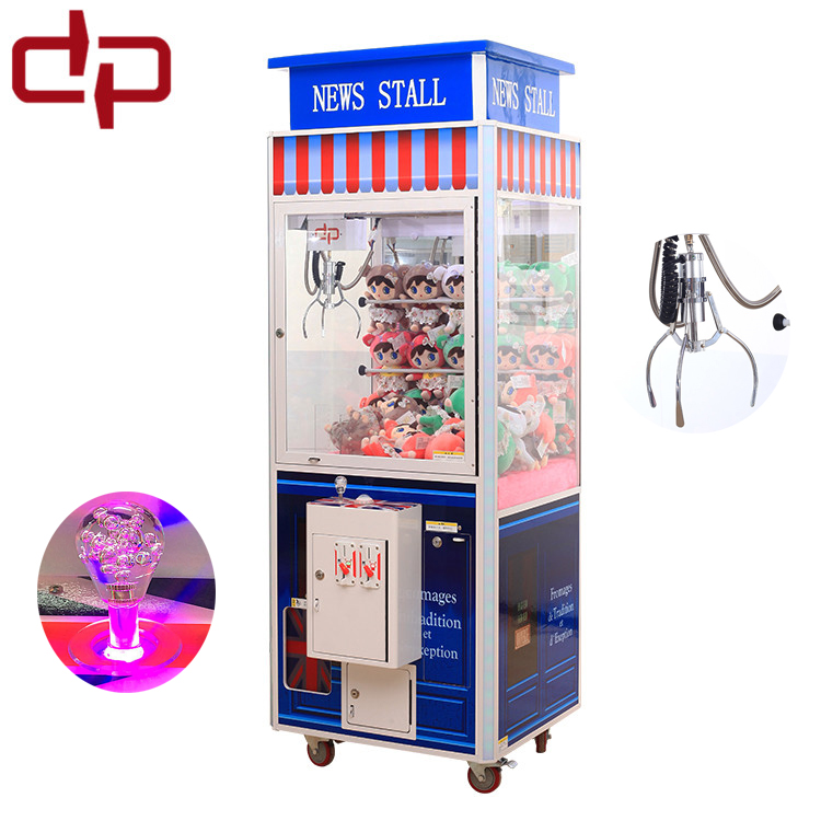 Children play coin toy crane claw machine in video game room (Dingpin DP-M33)