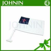 china manufacturer produce strong white plastic pole best sales high quality custom christian car window flags