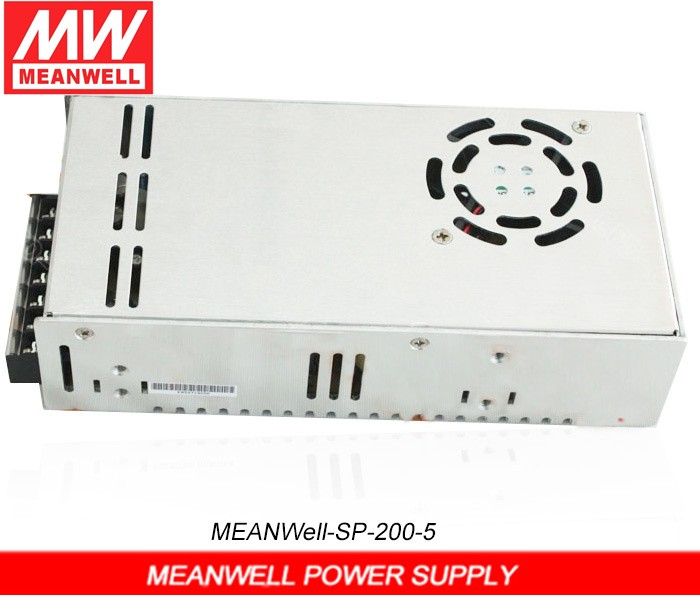 Mean Well LED Power Supply SP-200-5 / WM single output ac dc mw led power supply 200w for led display